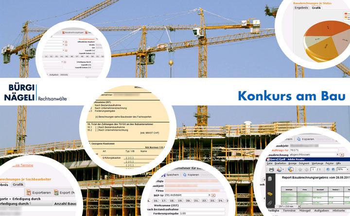 Konkursbedingte Bauabrechnung